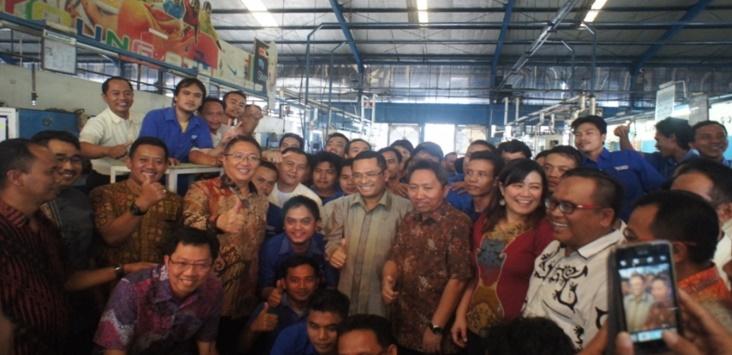 Kunjungan Kerja dan Halal Bihalal Menteri Perindustrian  ke PT. Adis Dimension Footwear